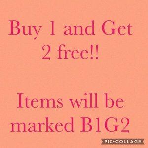 Buy1 Get 2 free items